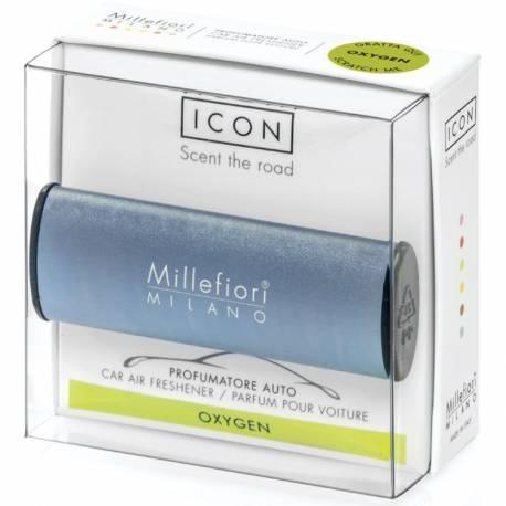 Oxygen – Metallo matt blau Halter Icon – Autoduft Millefiori
