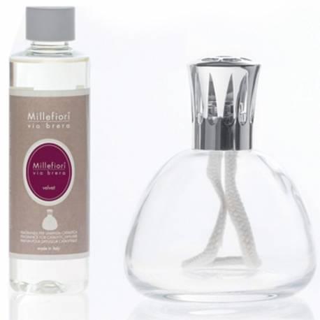 Set katalytische Duftlampe Millefiori Lampair Bell klar Velvet