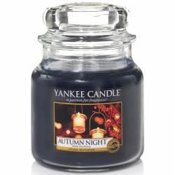 Yankee Candle Jar Glaskerze mittel 411g Autumn Night