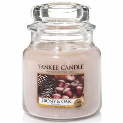 Yankee Candle Jar Glaskerze mittel 411g Ebony & Oak