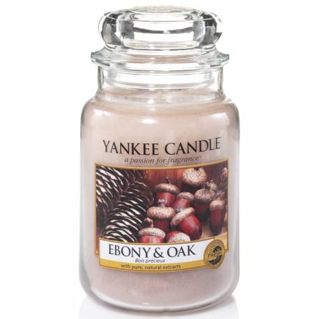 Yankee Candle Jar Glaskerze groß 623g Ebony & Oak