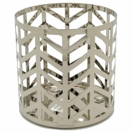 Yankee Candle Straight Line Chrome Jar Sleeve/Halter