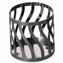 Yankee Candle Curve Line Gun Metall Sphere/Pillar-Halter