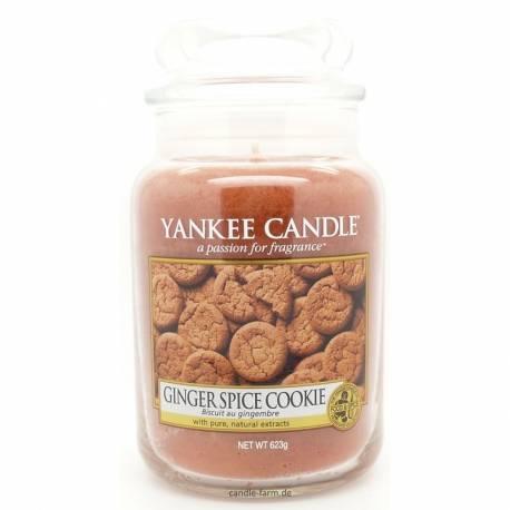 Yankee Candle Jar Glaskerze groß 623g Ginger Spice Cookie