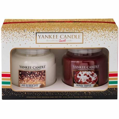 Yankee Candle Geschenk-Set Weihnachten 2x Jar mittel 411g