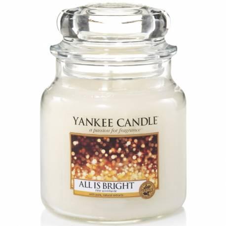 Yankee Candle Jar Glaskerze mittel 411g All is Bright