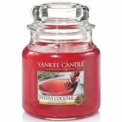 Yankee Candle Jar Glaskerze mittel 411g Festive Cocktail