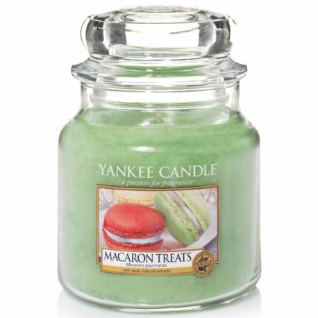 Yankee Candle Jar Glaskerze mittel 411g Macaron Treats