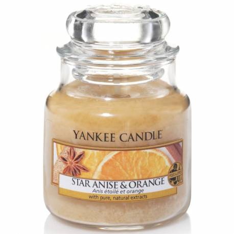 Yankee Candle Jar Glaskerze klein 104g Star Anise & Orange