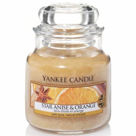 Yankee Candle Jar Glaskerze klein 104g Star Anise & Orange