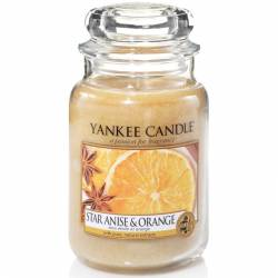 Yankee Candle Jar Glaskerze groß 623g Star Anise & Orange