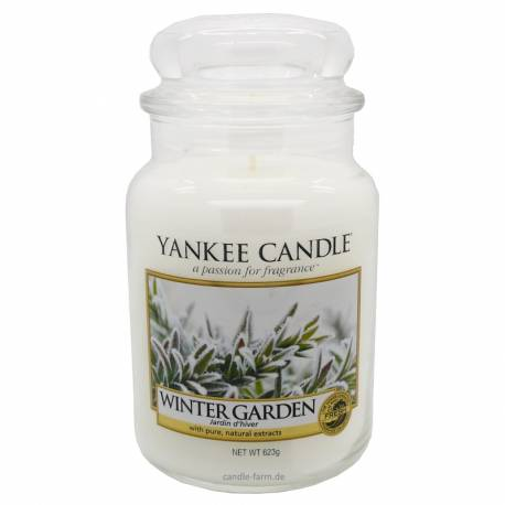 Yankee Candle Jar Glaskerze groß 623g Winter Garden