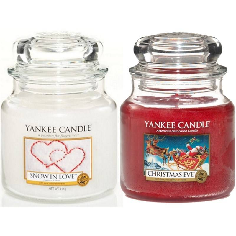 yankee candle geschenk set weihnachten 2x jar mittel 411g. Black Bedroom Furniture Sets. Home Design Ideas