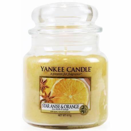 Yankee Candle Jar Glaskerze mittel 411g Star Anise & Orange