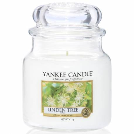 Yankee Candle Jar Glaskerze mittel 411g Linden Tree