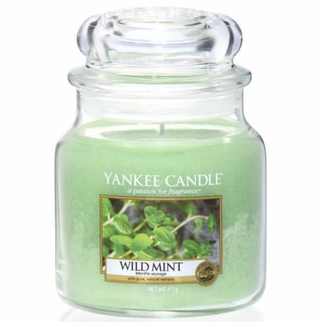 Yankee Candle Jar Glaskerze mittel 411g Wild Mint