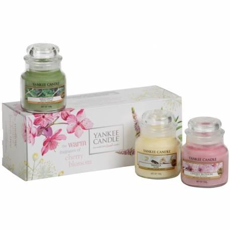 Yankee Candle Geschenk-Set Pure Essence 3x Jar klein 104g