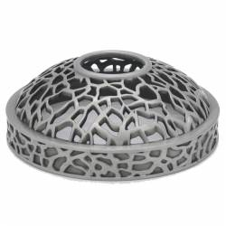 Yankee Candle Matrix brushed silver Illuma-Lid