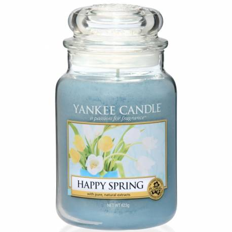 Yankee Candle Jar Glaskerze groß 623g Happy Spring