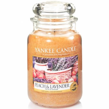 Yankee Candle Jar Glaskerze groß 623g Peach & Lavender