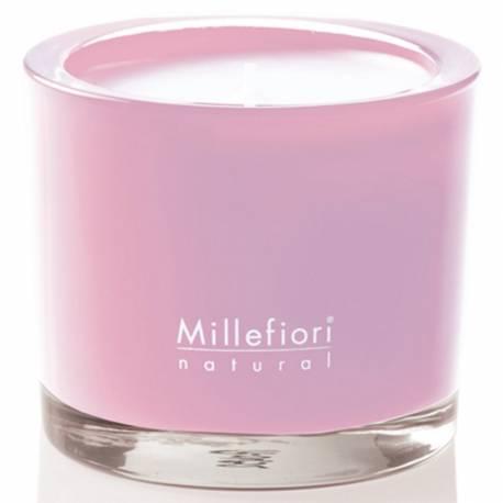 Magnolia Blossom & Wood Millefiori Natural Glas Kerzen 180 g