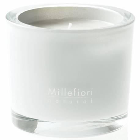 White Mint & Tonka Millefiori Natural Glas Kerzen 180 g
