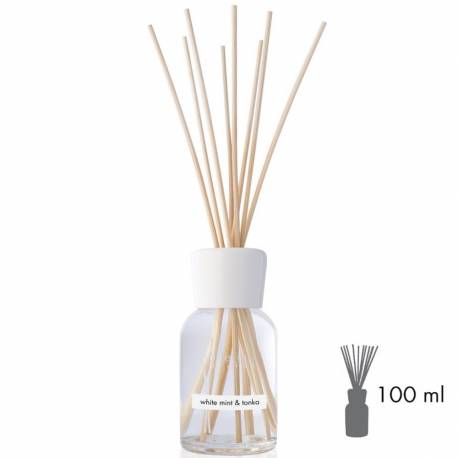 White Mint & Tonka Millefiori Natural Stick Diffusor 100 ml