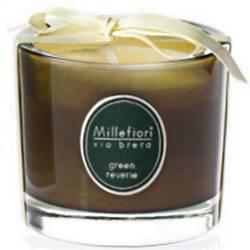 Green Reverie Millefiori Via Brera Glas Kerzen 180 g