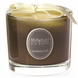 Sandalwood Millefiori Via Brera Glas Kerzen 180 g