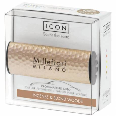 Incense & Blond Woods – Halter Icon Metall gehämmert rosegold - Autoduft Millefiori
