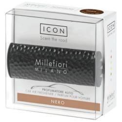 Nero – Halter Icon Metall gehämmert schwarz - Autoduft Millefiori
