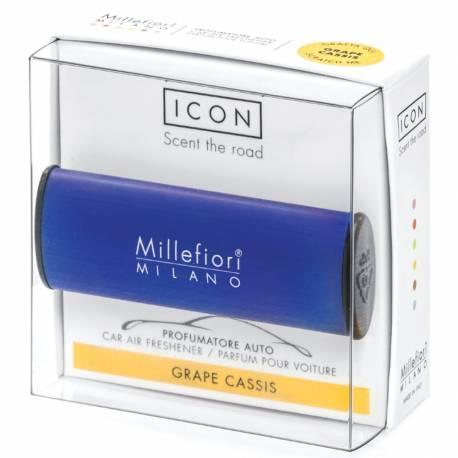 Grape Cassis – Halter Icon Classic dunkelblau - Autoduft Millefiori