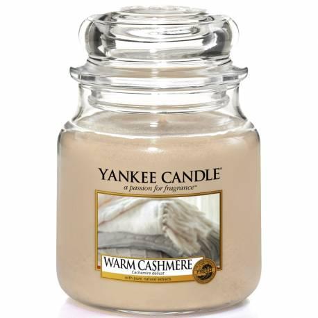 Yankee Candle Jar Glaskerze mittel 411g Warm Cashmere