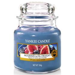 Yankee Candle Jar Glaskerze klein 104g Mulberry & Fig Delight