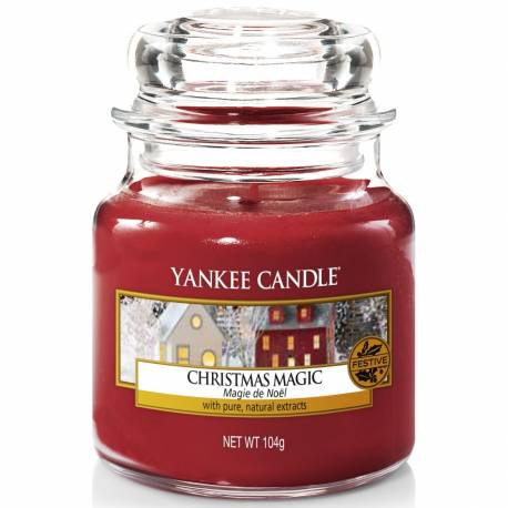 Yankee Candle Jar Glaskerze klein 104g Christmas Magic