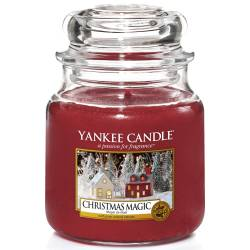 Yankee Candle Jar Glaskerze mittel 411g Christmas Magic