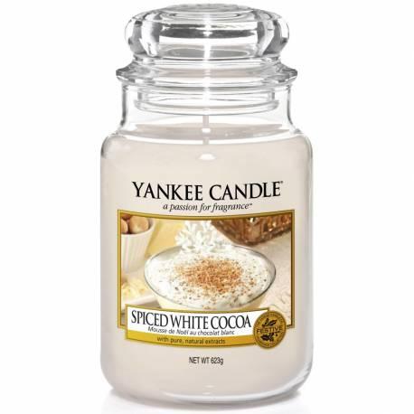 Yankee Candle Jar Glaskerze groß 623g Spiced White Cocoa