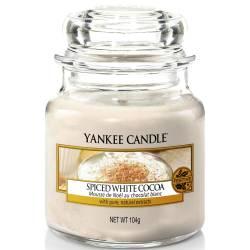 Yankee Candle Jar Glaskerze klein 104g Spiced White Cocoa
