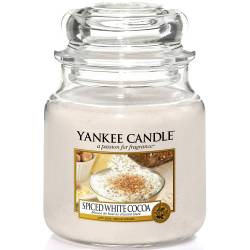 Yankee Candle Jar Glaskerze mittel 411g Spiced White Cocoa