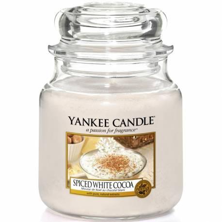 Yankee Candle Jar Glaskerze mittel 411g Spiced White Cocoa