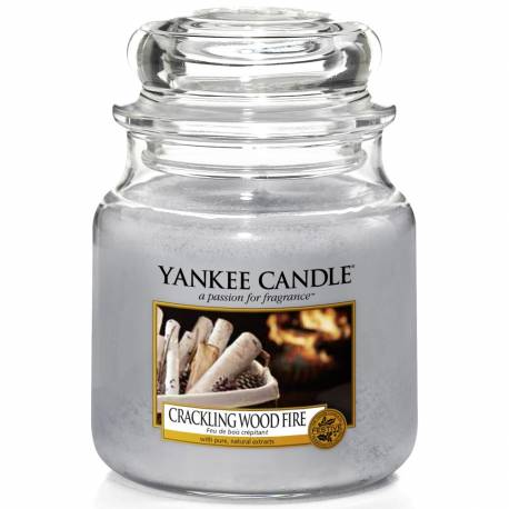 Yankee Candle Jar Glaskerze mittel 411g Crackling Wood Fire