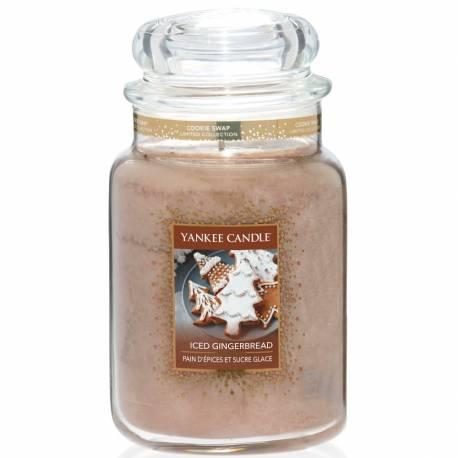 Yankee Candle Jar Glaskerze groß 623g Iced Gingerbread