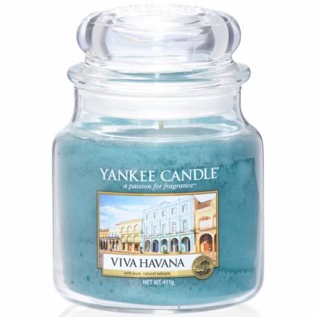 Yankee Candle Jar Glaskerze mittel 411g Viva Havana