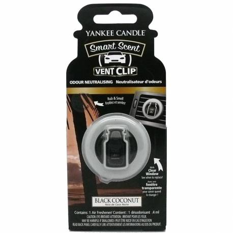 Yankee Candle Smart Scent Vent Clip Autoduft Black Coconut