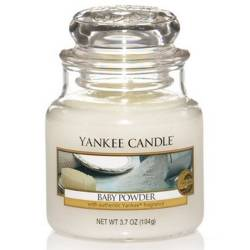 Yankee Candle Jar Glaskerze klein 104g Baby Powder