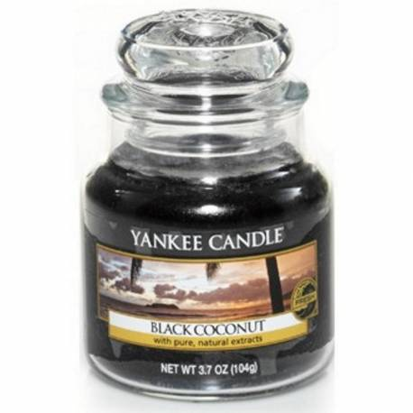 Yankee Candle Jar Glaskerze klein 104g Black Coconut