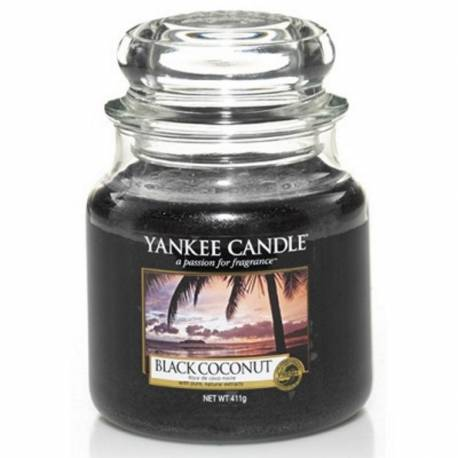 Yankee Candle Jar Glaskerze mittel 411g Black Coconut
