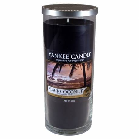 Yankee Candle Pillar Glaskerze gross 566g Black Coconut