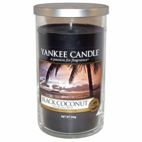 Yankee Candle Pillar Glaskerze mittel 340g Black Coconut