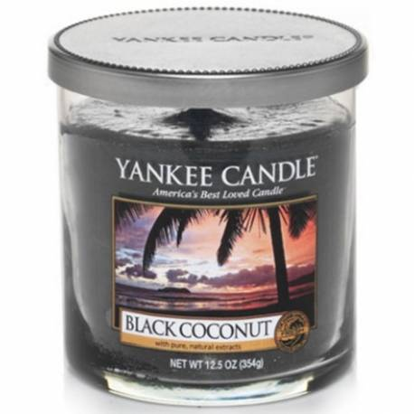 Yankee Candle 1 Docht Regular Tumbler Glaskerze klein 198g Black Coconut